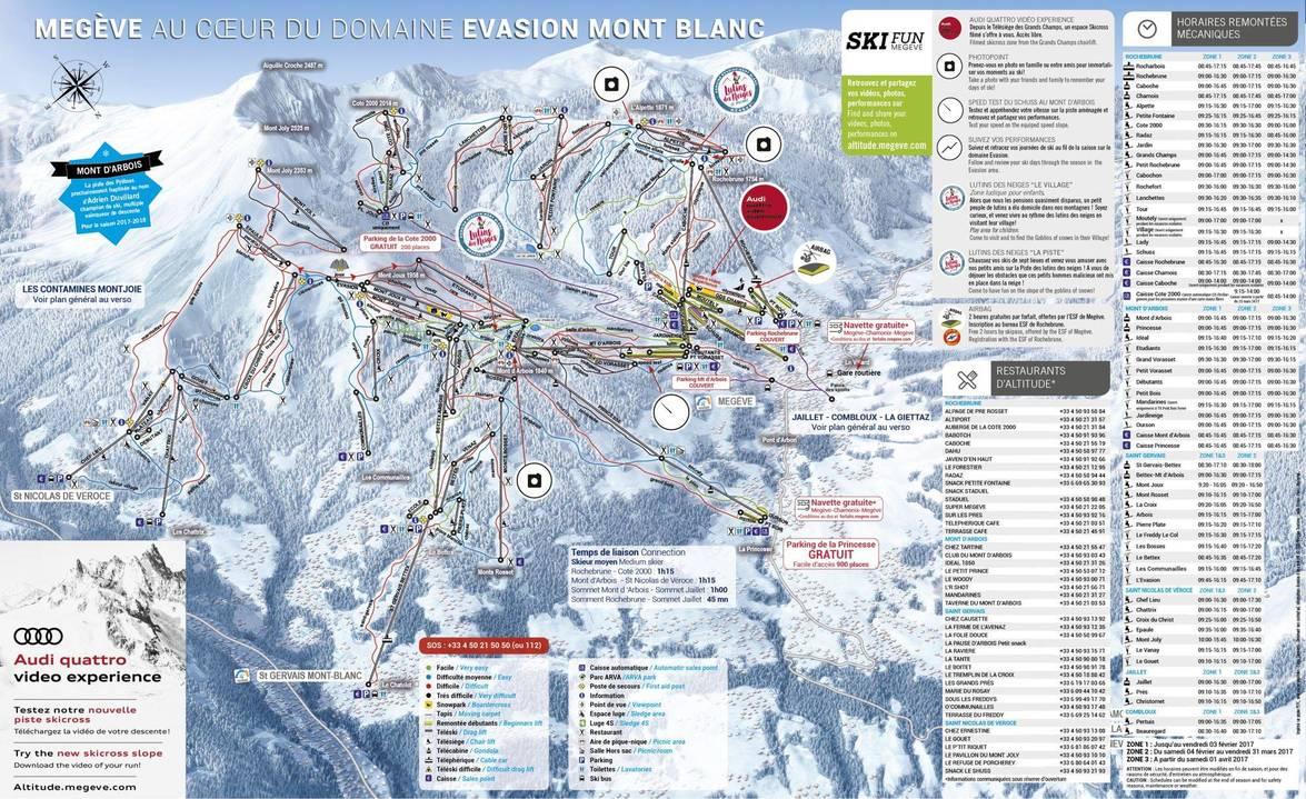 Plan des pistes - Domaine de Megève
