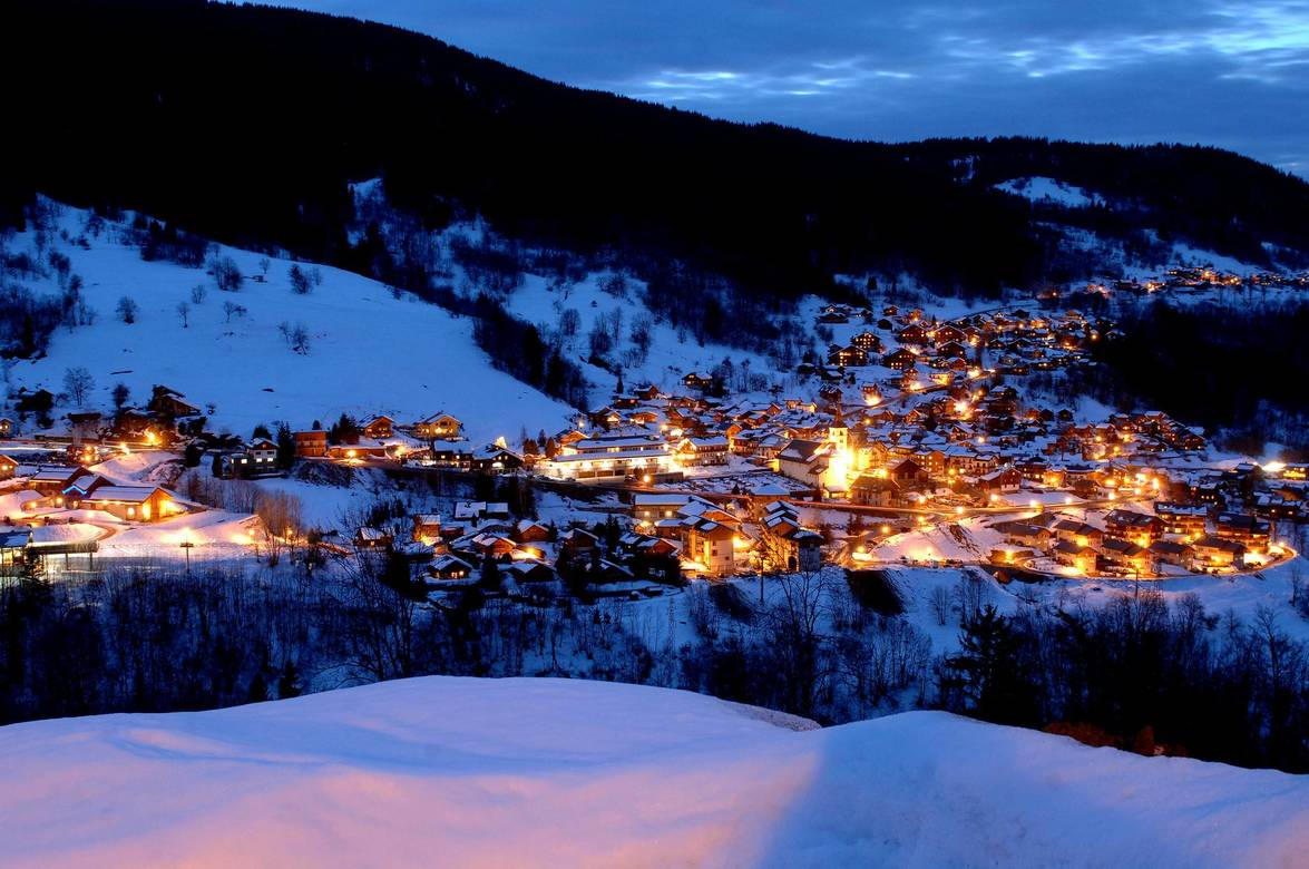 Meribel by night