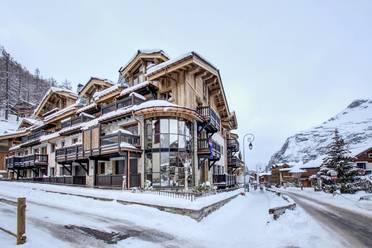 Vue extérieure de la nouvelle résidence La Canadienne à Val d'Isère