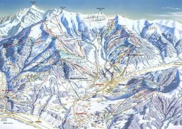 Plan des pistes de Megève | Megève