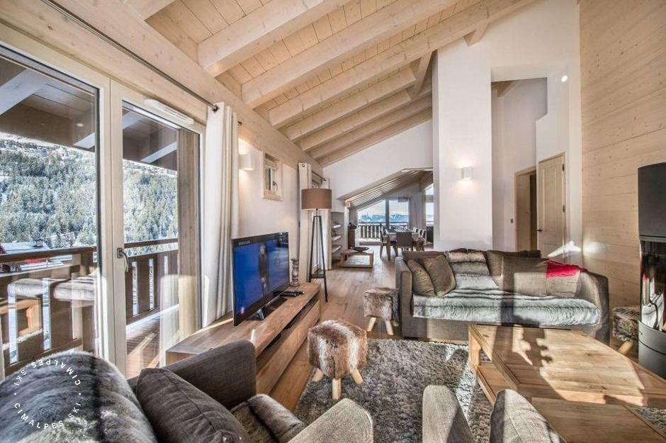 salon - appartement aspen lodge B31 - courchevel moriond