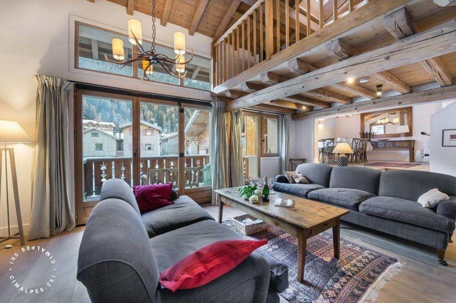 Salon - Chalet Pierremont - Courchevel Le Praz