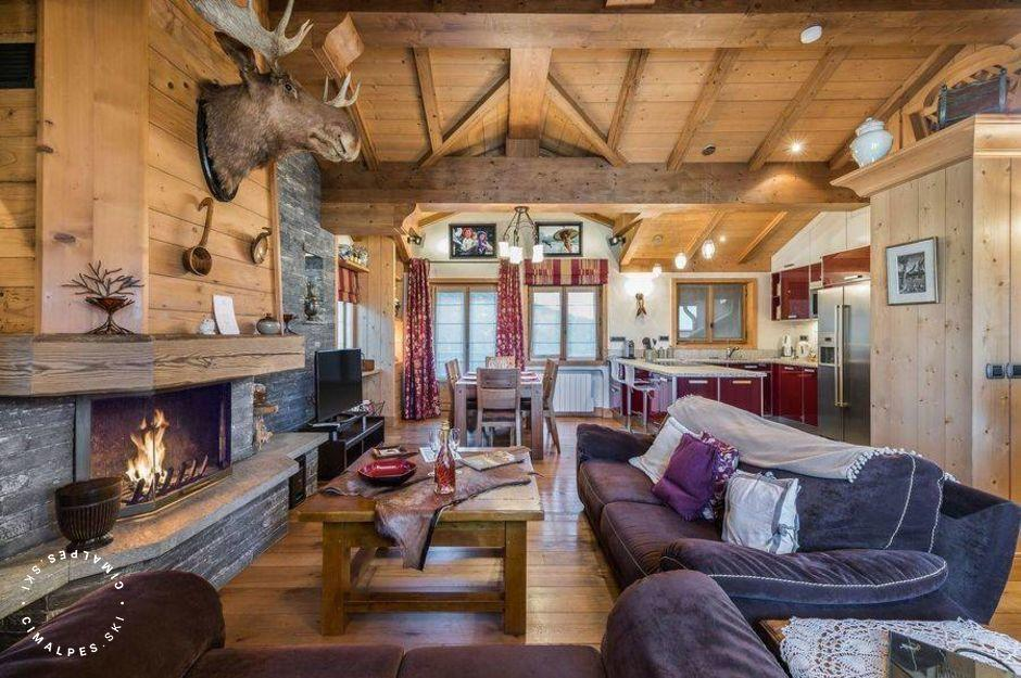 Salon - Appartement Amadablan - Courchevel 1850