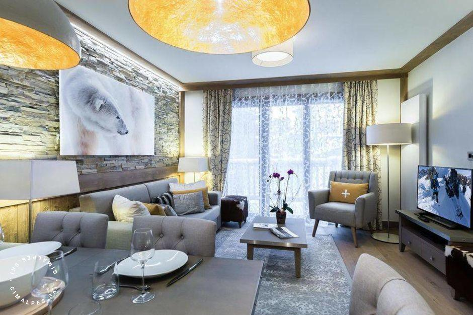 Salon - Appartement Carré Blanc 234 - Courchevel Village