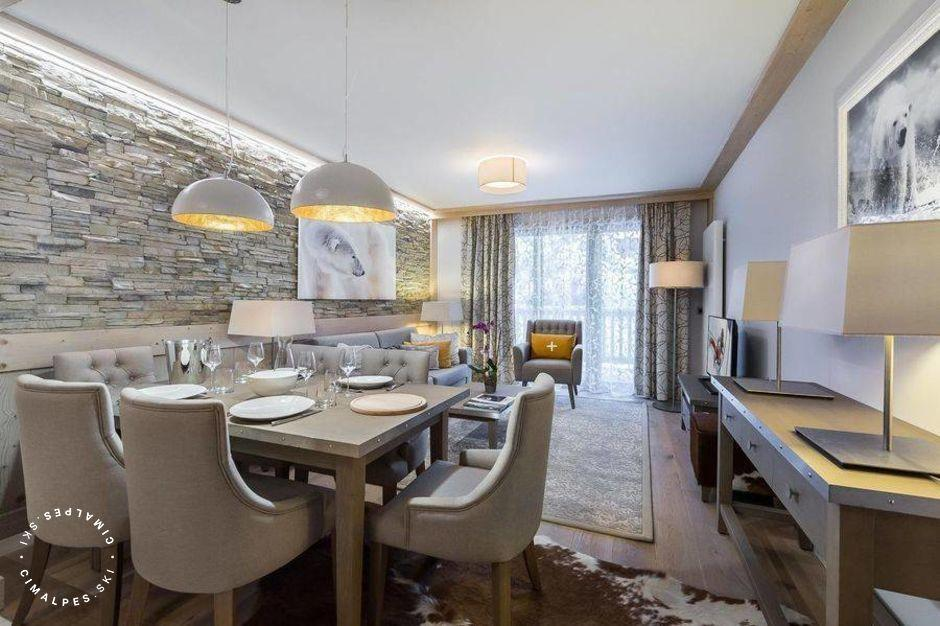 Salon - Appartement Carré Blanc 235 - Courchevel Village