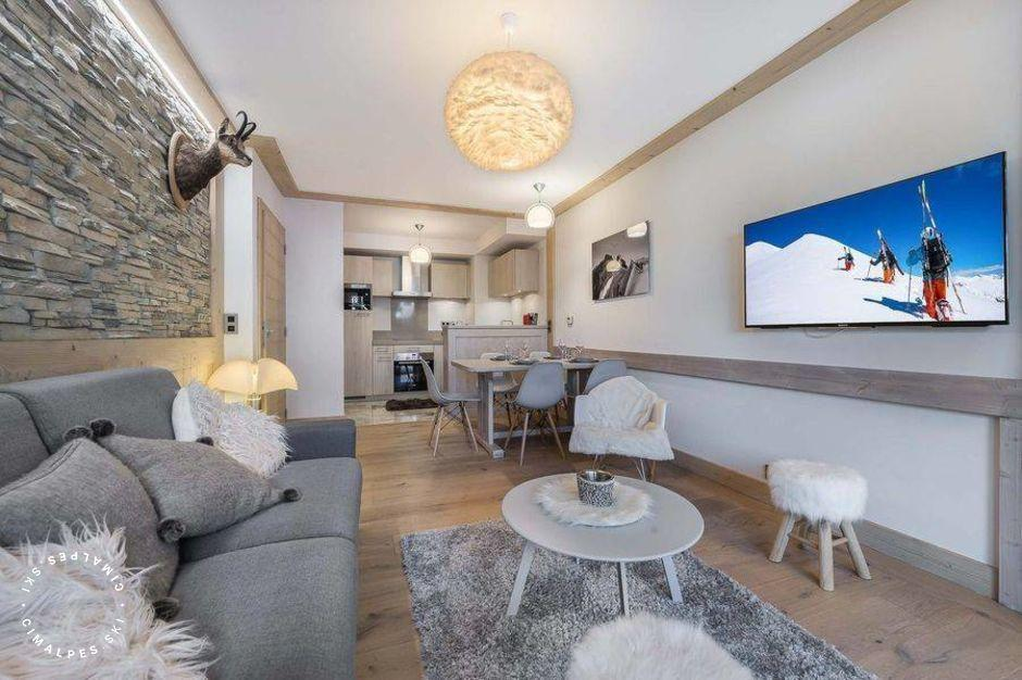 Salon - Appartement Carré Blanc 245 - Courchevel Village
