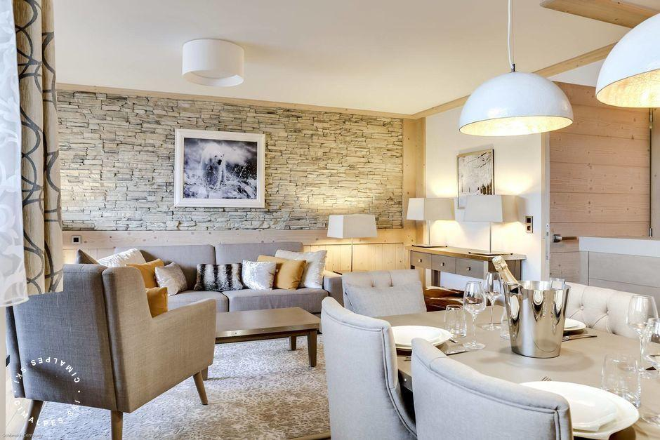 Salon - Appartement Carré Blanc 132 - Courchevel Village