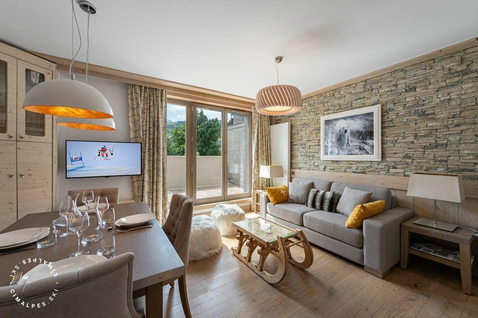 Séjour - Appartement Carré Blanc 372 - Courchevel Village