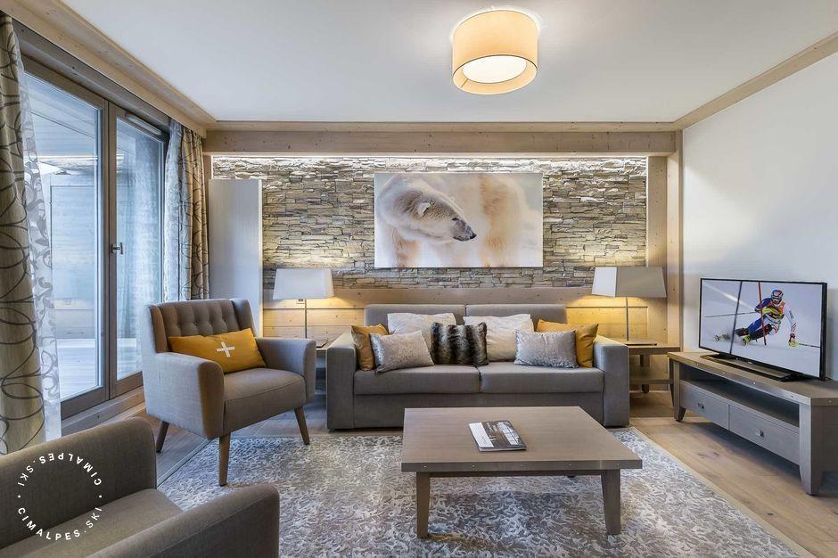 Salon - Appartement Carré Blanc 110 - Courchevel Village