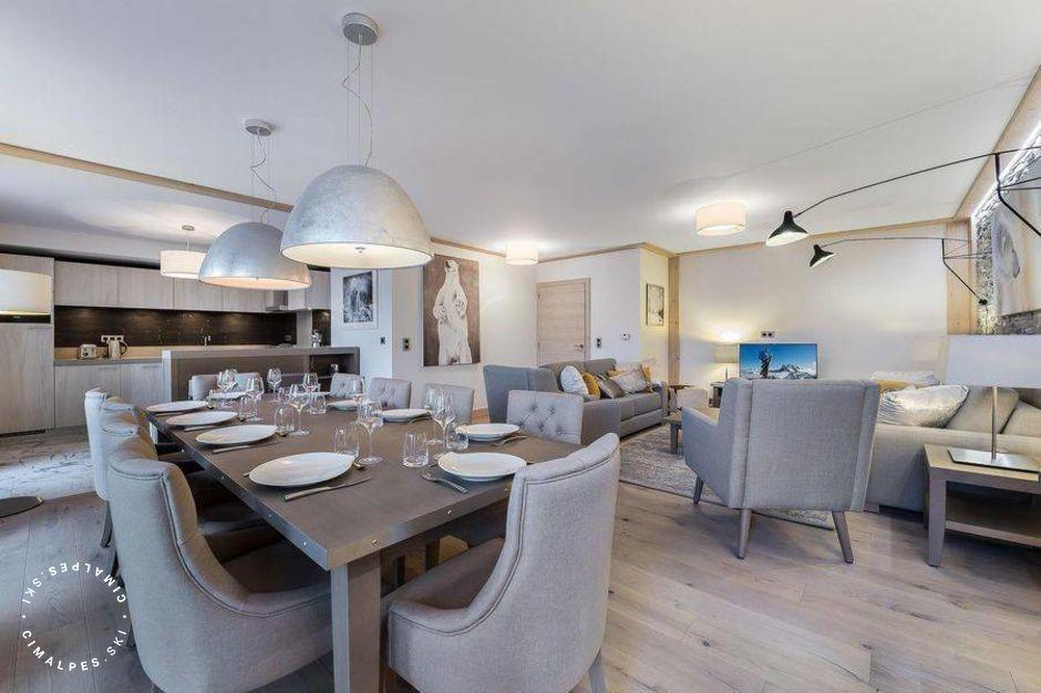 Salle à manger - Appartement Carré Blanc 242 - Courchevel Village