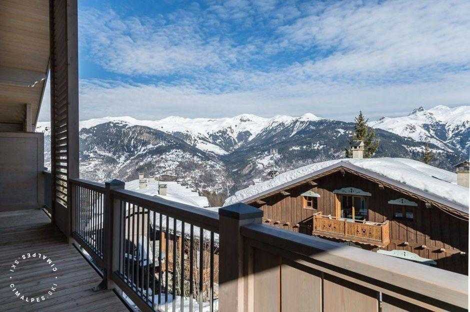 Vue du Balcon - Appartement Carré Blanc 242 - Courchevel Village