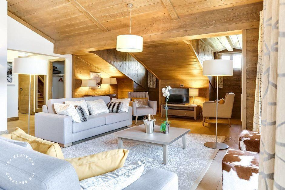 Salon - Appartement Carré Blanc 141 - Courchevel Village