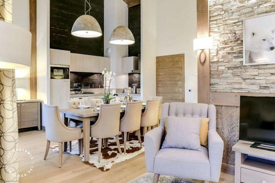 Salon - Appartement Carré Blanc 140 - Courchevel Village