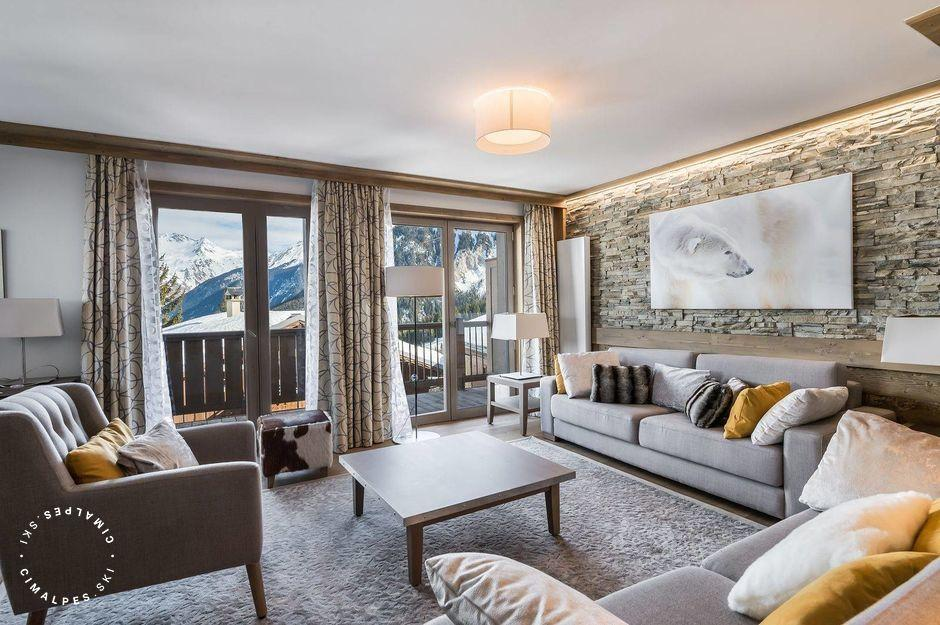 Salon - Appartement Carré Blanc 241 - Courchevel Village