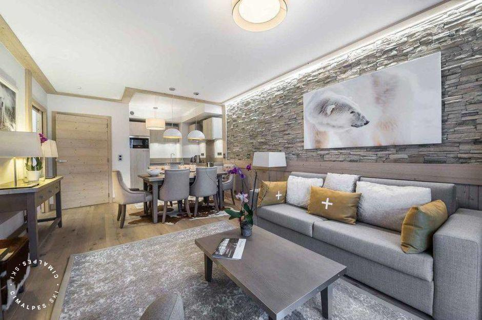 Salon - Appartement Carré Blanc 246 - Courchevel Village