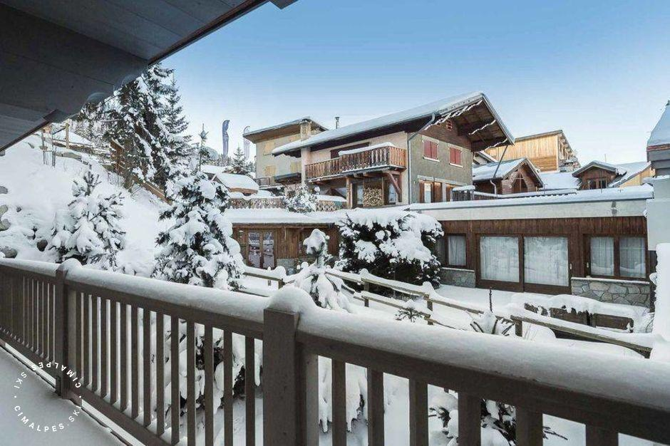Vue du balcon - Appartement Carré Blanc 246 - Courchevel Village