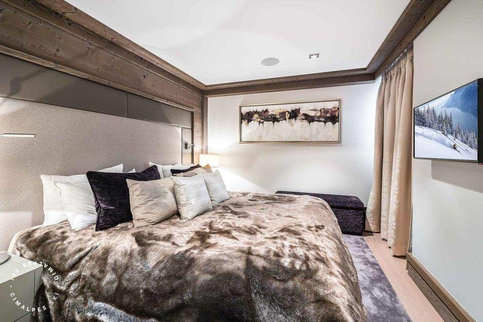 Chambre double - Appartement Six Senses - Courchevel 1850