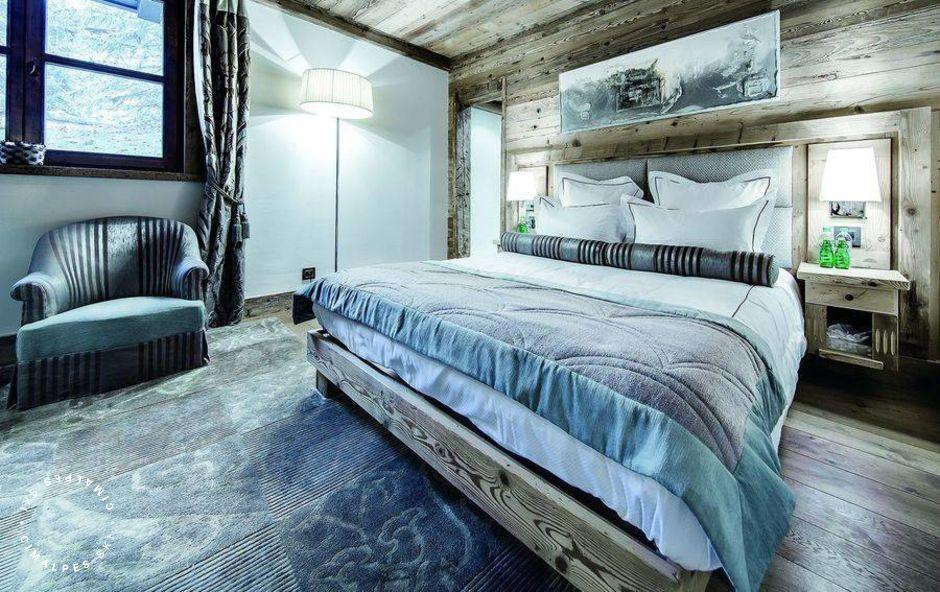 Chambre contemporaine - Chalet Monet - Courchevel 1850