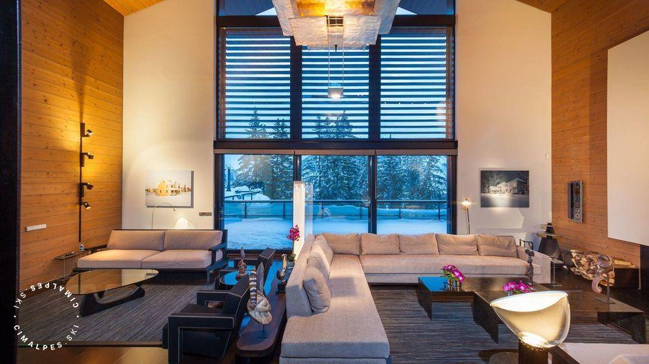 Salon - Chalet Greystone - Courchevel 1850