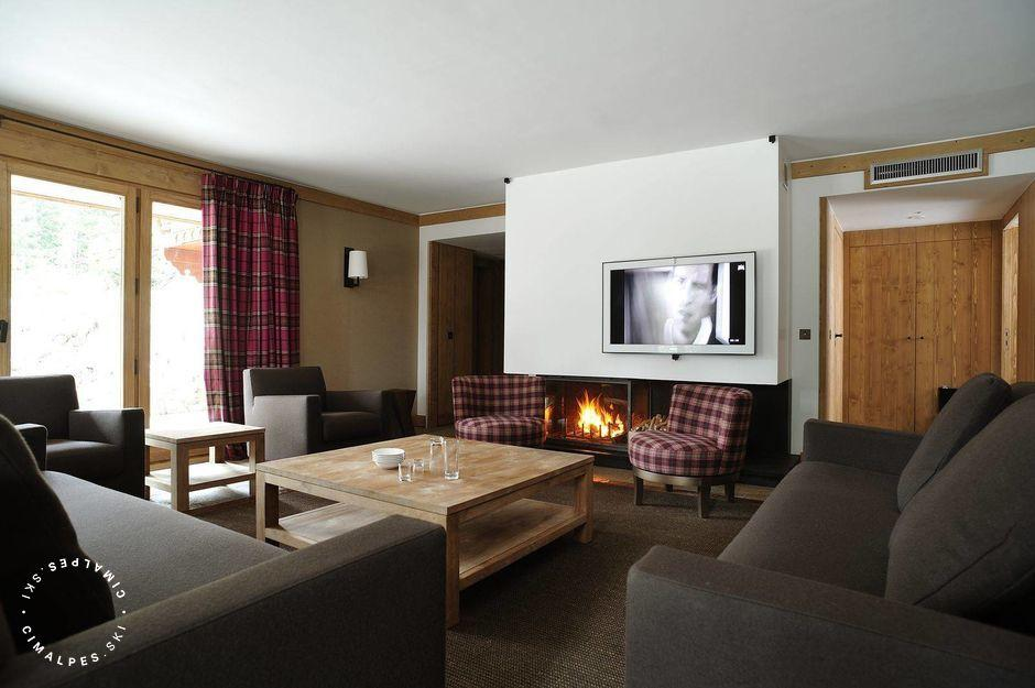 Salon - Appartement Prebois C - Courchevel 1850