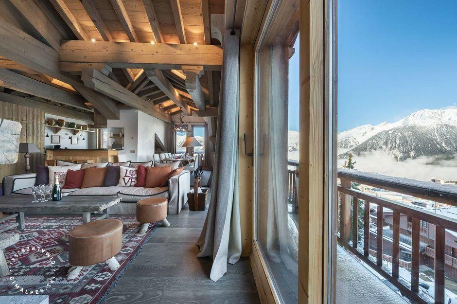 Salon - Appartement Chanteloup 5 - Courchevel 1850