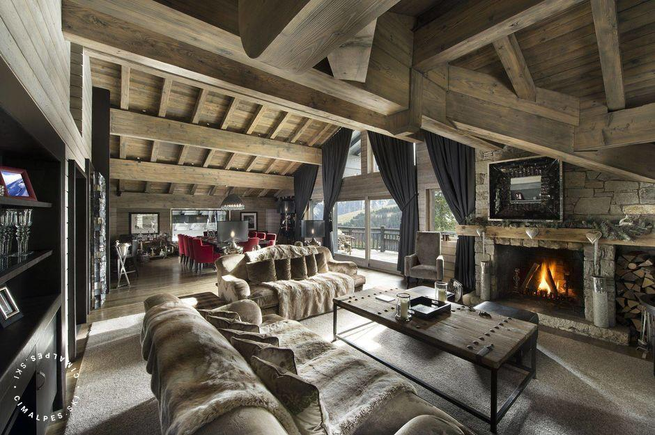Salon - Chalet Rocher - Courchevel 1850