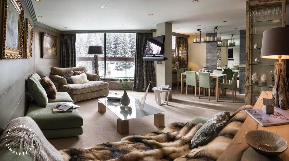 Salon - Appartement Domaine du Jardin Alpin B203 - Courchevel 1850