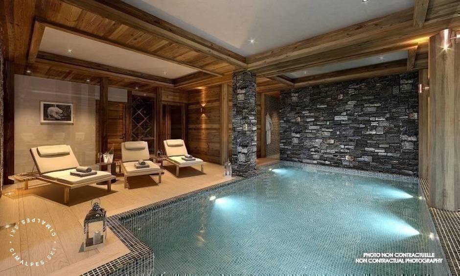 Indoor Pool - Chalet Pure Black Crystal - Saint Martin de Belleville