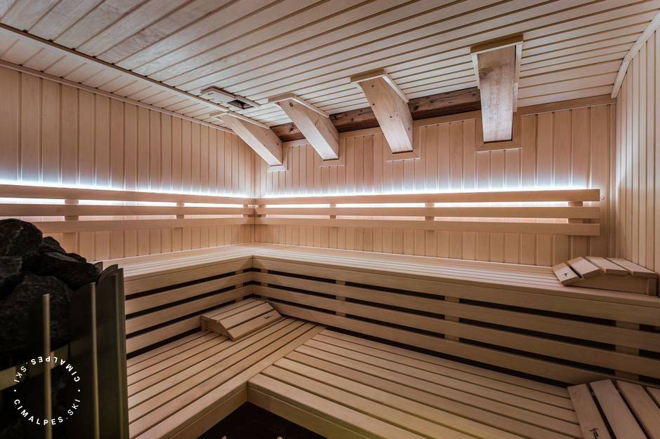 Sauna avec lumières  Les Belles Alpes 4   Méribel Village