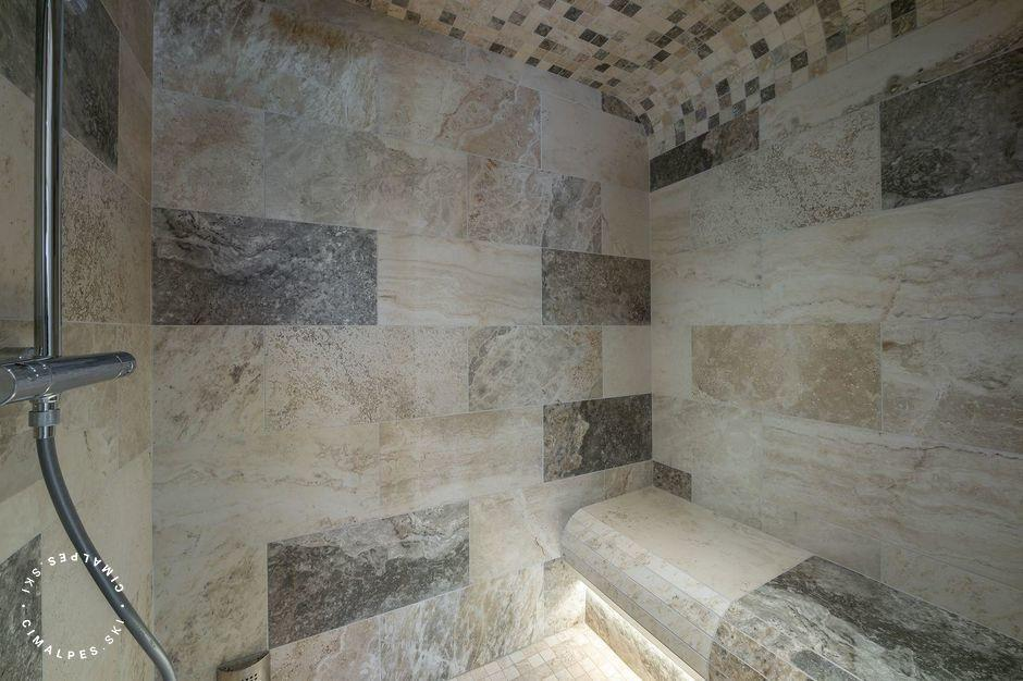 Douche Hammam | Appartement Ferme des Lanches 9 |Courchevel Le Praz