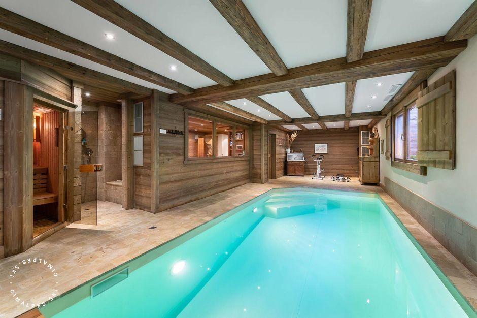 Chalet with indoor private swimming pool | Mandarine Blanche Chalet | Megeve