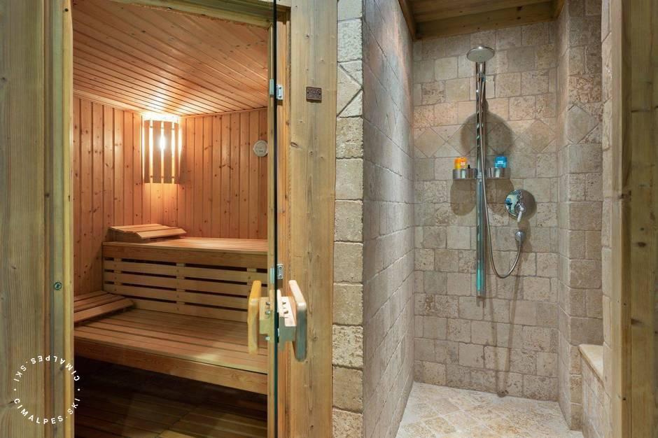 Sauna | Chalet Mandarine Blanche | Megève