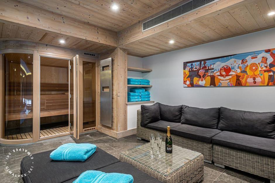 Lounge espace bien-être | Chalet Grand Tetras | Courchevel Le Praz