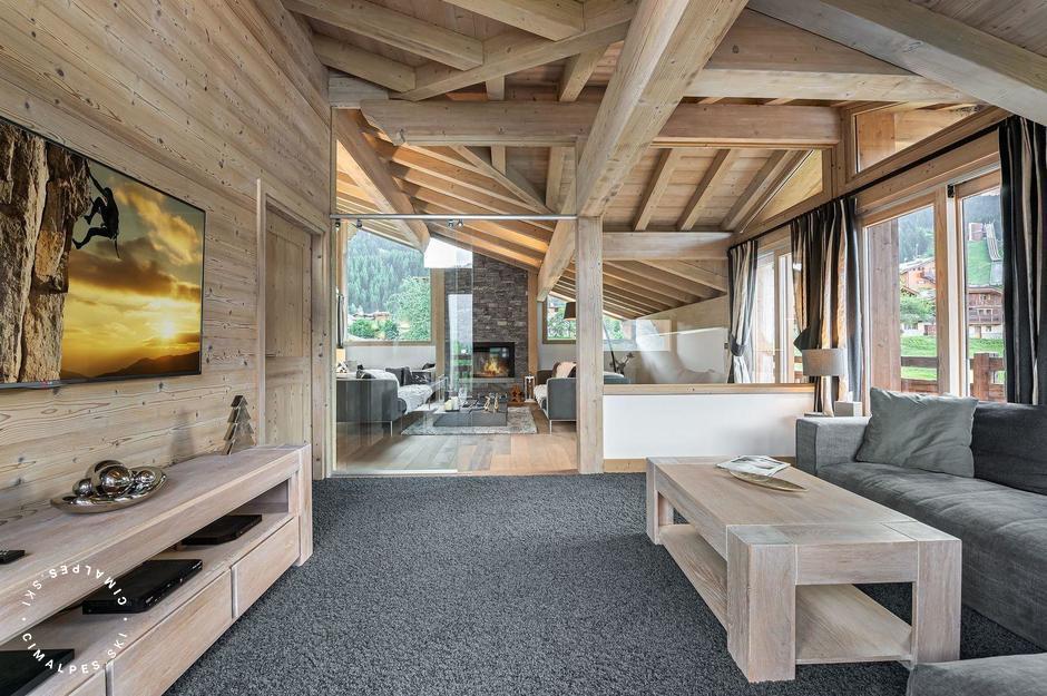 TV Lounge |Chalet Grand Tetras | Courchevel Le Praz