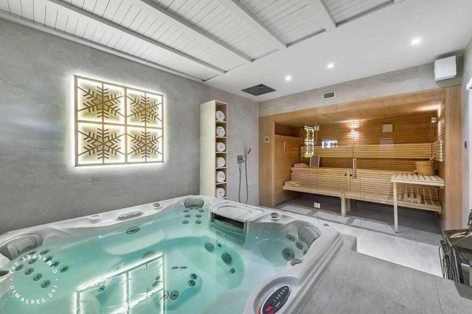 Chalet Amnesia Courchevel Moriond - Jacuzzi and sauna