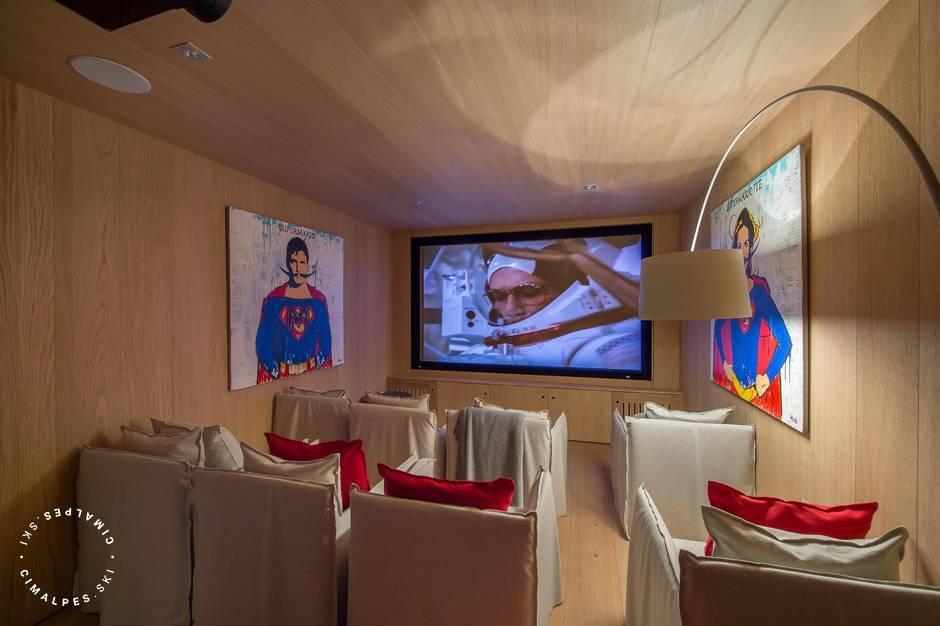 Chalet Kibo - Courchevel Village - Salle de cinéma