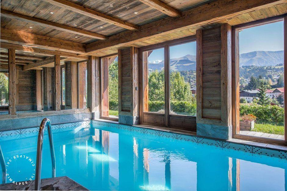 Chalet Crystal White - Megève - swimming pool