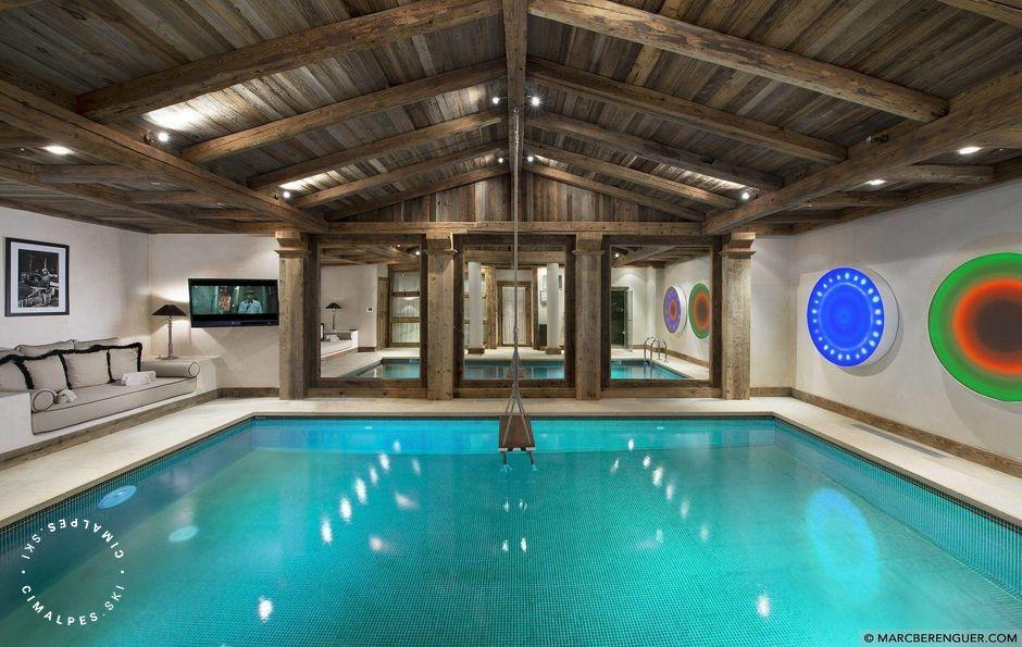 Swimmimg pool Chalet Grande Roche Courchevel 1850