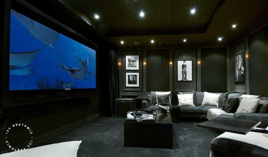 Cinema room Chalet Grande Roche Courchevel 1850