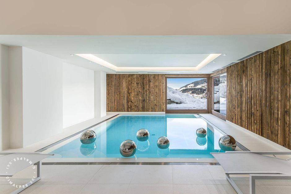 Chalet Ararat  Megève swimming pool