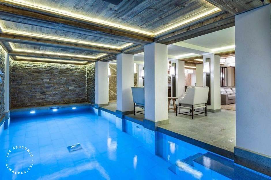Chalet Bastidons Courchevel piscine
