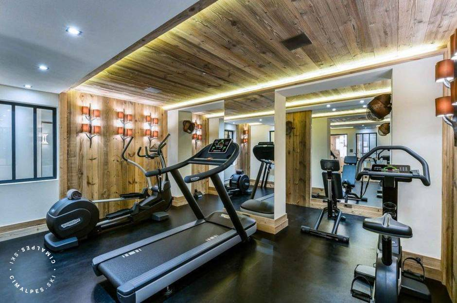 Chalet Cryst'Ailes Courchevel gym room