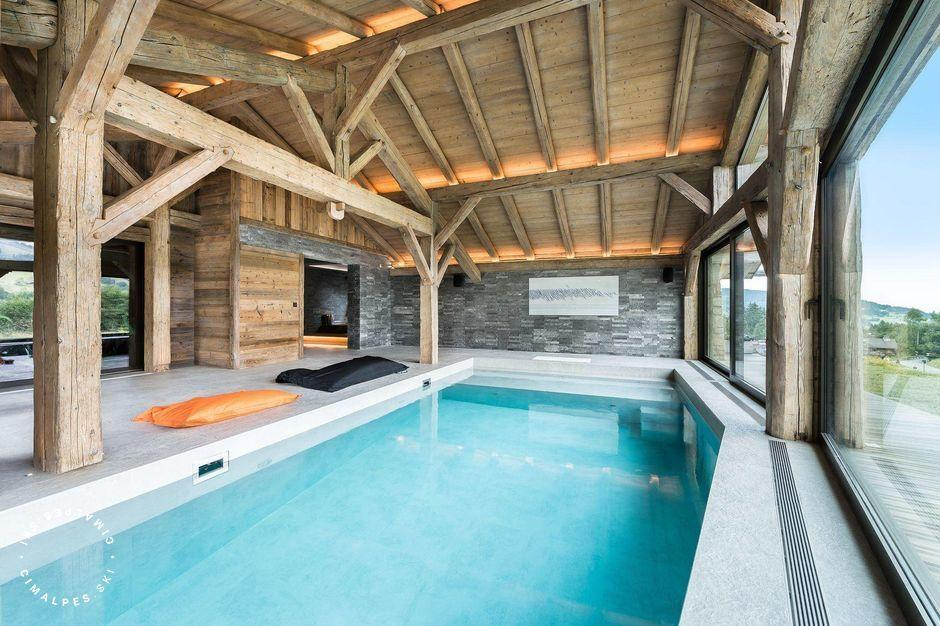 Chalet L'Impasse Megève swimming pool