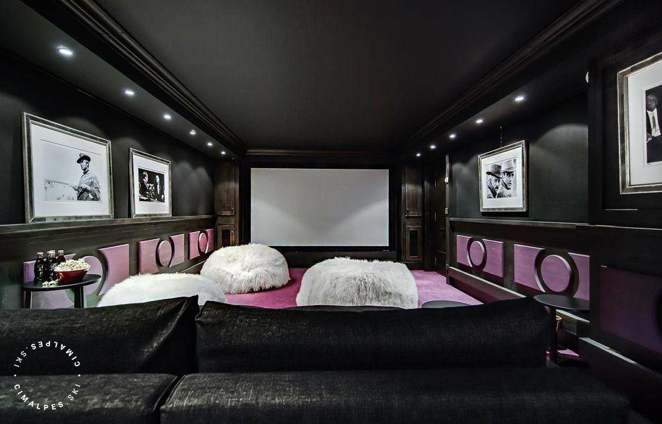 Chalet Black Pearl Courchevel cinema room