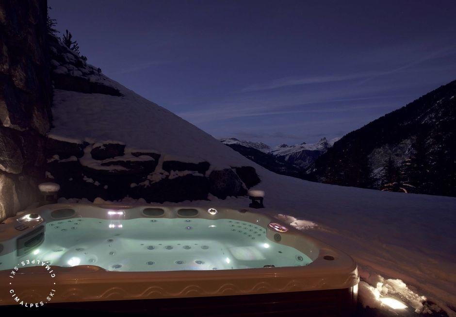 Jacuzzi exterieur - Chalet Ourson - Courchevel 1650