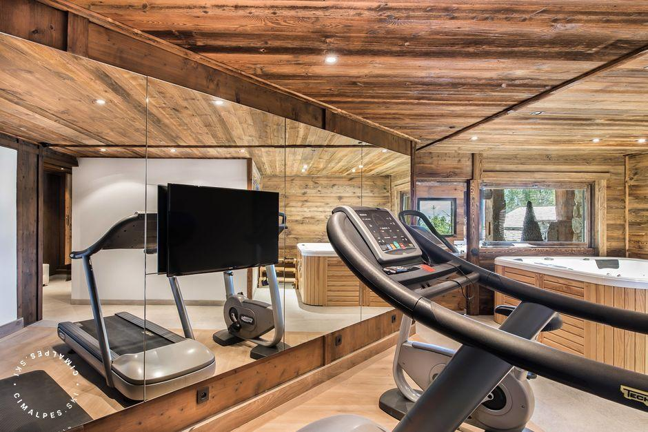Chalet Edge - fitness room - Megève