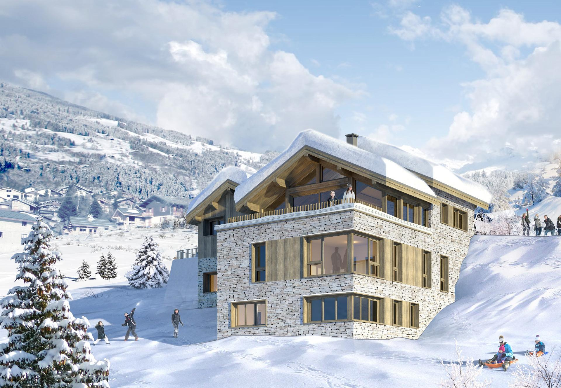 CHALET DE LUXE EN CONSTRUCTION