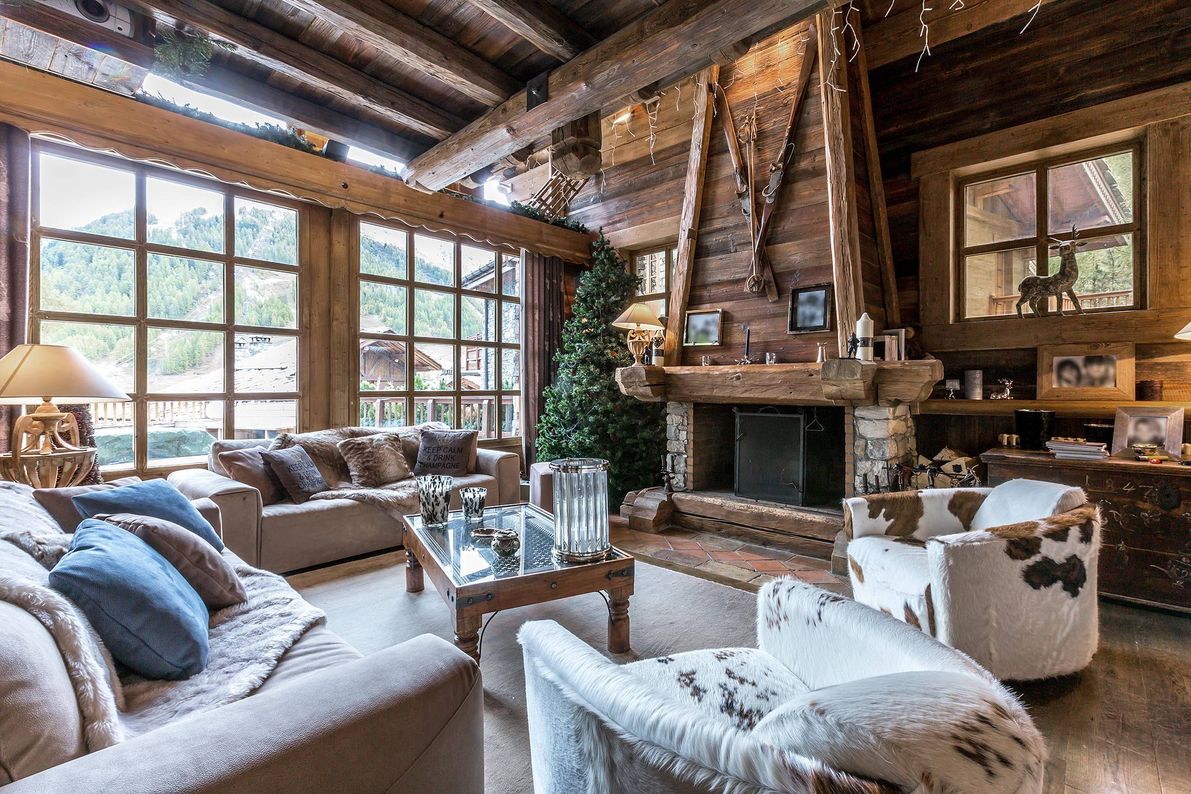 Decorating a mountain chalet